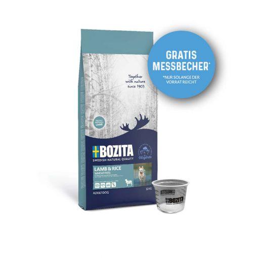 Bozita Lamb & Rice Weizenfrei 12kg + Messbecher gratis
