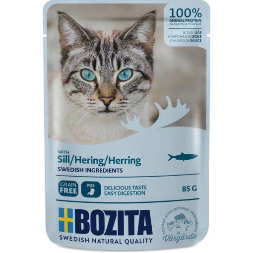 Bozita Pouch Häppchen in Soße mit Hering 85g (Menge: 12 je Bestelleinheit)