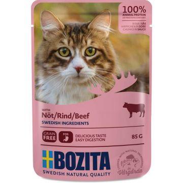 Bozita Pouch Häppchen in Soße mit Rind 85g (Menge: 12 je Bestelleinheit)