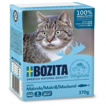 Bozita Cat Tetra Recard Häppchen in Gelee Makrele 370g (Menge: 16 je Bestelleinheit)