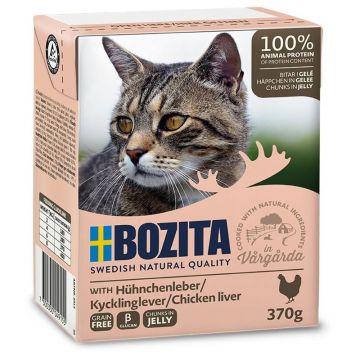 Bozita Cat Tetra Recard Häppchen in Gelee Hühnchenleber 370g (Menge: 16 je Bestelleinheit)