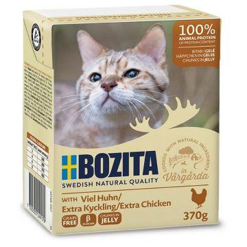 Bozita Cat Tetra Recard Häppchen in Gelee mit viel Huhn 370g (Menge: 16 je Bestelleinheit)