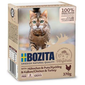 Bozita Cat Tetra Recard Häppchen in Soße Huhn & Pute 370g (Menge: 16 je Bestelleinheit)
