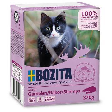 Bozita Cat Tetra Recard Häppchen in Soße Garnelen 370g (Menge: 16 je Bestelleinheit)